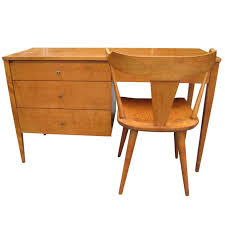 Mid Century Desk Paul Mccobb Solid Maple Desk With Chair Mid Century Modern For