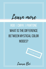 the difference between mystical color modes rgb cmyk pantone