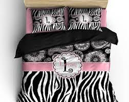 zebra bedding etsy