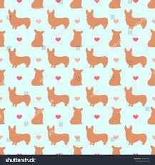 corgi wrapping paper corgi dog seamless pattern background stock vector