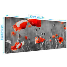 Poppy Home Decor by Red Poppies Canvas Wall Art Shenra Com