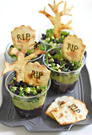 graveyard taco cups fork and beans