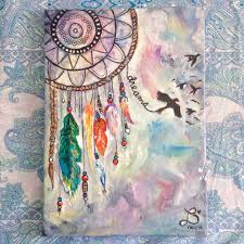 paint dream dream catcher made for someone special acrylic on 10x12 canvas