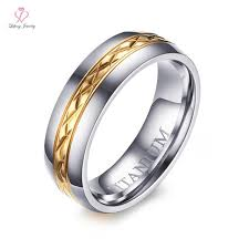 womens titanium wedding bands womens titanium wedding bands rings 6mm silver gold two tone