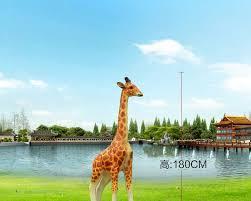 large scale simulation giraffe garden ornaments decorations