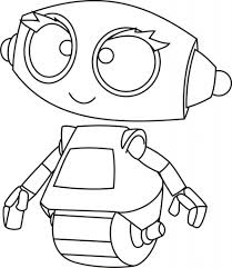 free cute robot coloring pages to print cartoon download for