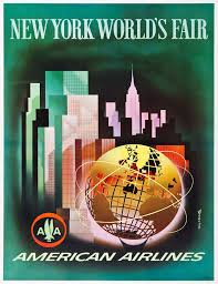 1964 World S Fair Map by Gorgeous American Airlines 1964 65 World U0027s Fair Poster