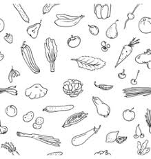 a set of sketches of food royalty free vector image