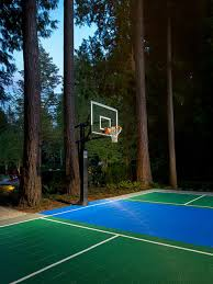 Basketball Courts With Lights Outdoor Basketball Court Houzz