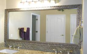 Frame Bathroom Mirror Kit by Frameless Bathroom Mirror Lighted Mirrors Decor Wonderland