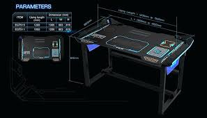 meilleur pc de bureau bureau pour pc gamer aauaaa e blue glowing pc gaming desk meilleur