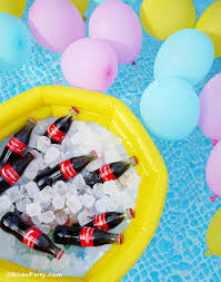pool party ideas summer pool party ideas coke float station party ideas party