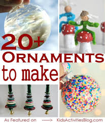 20 ideas of ornaments your can make this
