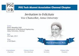 Meaning Of Invitation Card Psgtechalumnichennai Psg Tech Alumni Chennai Chapter
