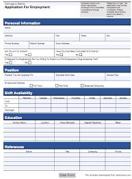 doc 479620 simple application form template u2013 free job