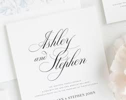 calligraphy invitations calligraphy wedding invitation etsy
