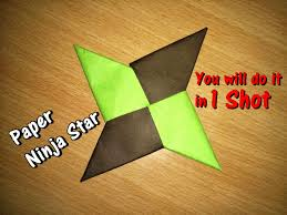 how to make a paper ninja star shuriken origami simple steps