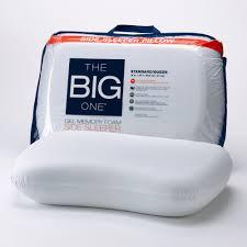 big one gel memory foam side sleeper pillow
