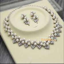 pearl necklace wedding set images Amoll wedding accessories accessories necklaces wedding wedding jpg
