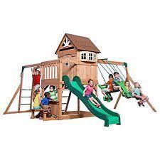 big backyard hazelwood swing set ebay