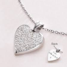 customized heart necklace engravable heart personalised necklace with crystals jewels 4