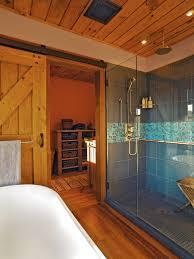 vigo shower doors bathroom farmhouse with blue tile glass shower
