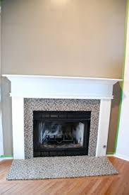 Diy Fireplace Cover Up Diy Tile Over Marble Fireplace Makeover I Wonder If I Can Talk My