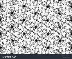blank coloring page flower pattern relaxation stock vector