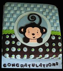 monkey boy baby shower cake cakecentral com