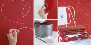 wandgestaltung rot tipp für die wandgestaltung stich für stich individuelles dessin