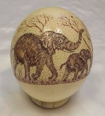 painted ostrich eggs egg