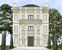 luxury home plans for narrow lots plan 12240jl three neo classical home plan georgian homes