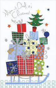 gifts sled mom u0026 dad christmas card freedom