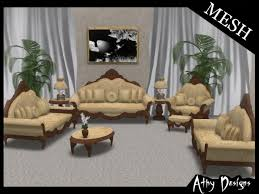 victorian livingroom second life marketplace mesh gold vintage victorian living room