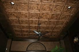 Hand Painted Decorative Ceiling Tiles in a Bedrooom Traditional