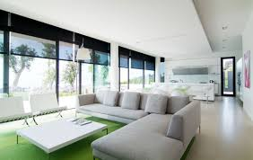all white home interiors h shape stretchers minimalist interior design all white l shaped