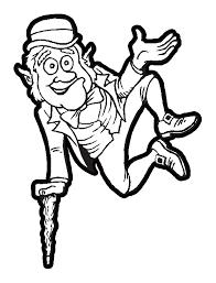 leprechaun jumping good luck irish coloring book