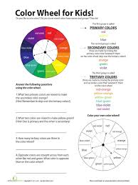 color wheel for kids yellow color