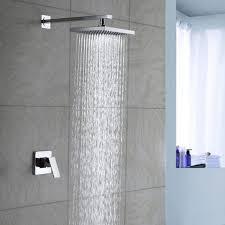 Bathroom Shower Handles Lightinthebox Chrome Wall Mount Bathroom Bath Mixer Taps Fixed