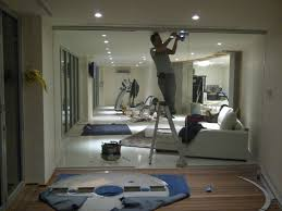 interior partitions for homes furniture glass wall interior winsome brown installing