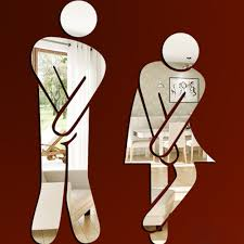 Male Female Bathroom Signs by Funlife Bathroom Sign Wall Sticker Male Female Toilet Direction