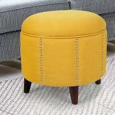 ottoman origami storage bench yellow chevron storage ottoman