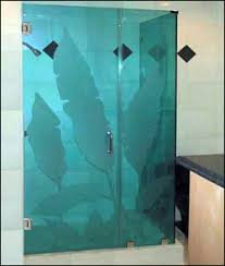 Shower Door Screen Green S Glass Screen Shower Doors Decorative Glass Repairs
