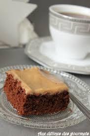 aux délices des gourmets brownie au chocolat glaçage au caramel