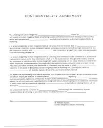 confidentiality agreement template sample form for volunteers