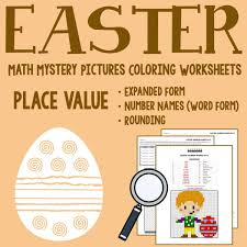 place value mystery number easter place value coloring worksheets printables worksheets