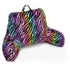 your zone rainbow zebra backrest walmart com