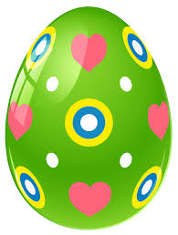 green easter egg with hearts png clipart picture gallery