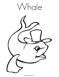 whale coloring page twisty noodle