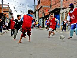 kids samba kids from the morro de samba play football
